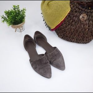 Vince Italian Leather Pointed Toe Flats Sandals 9M